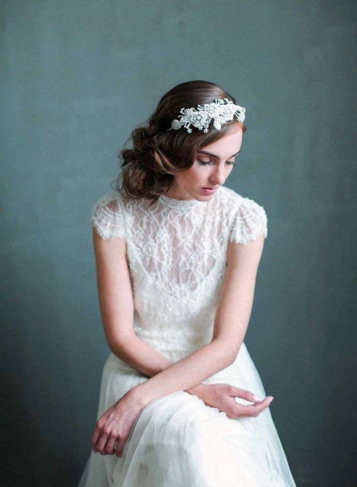 opal enchanted bridal headband