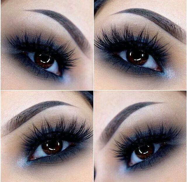 Soft smokey eyes.