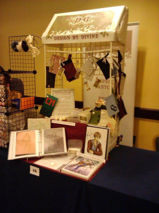 This Was My Half Table Setup At Anime Los Angeles 2012u0027s Artist Alley/Market