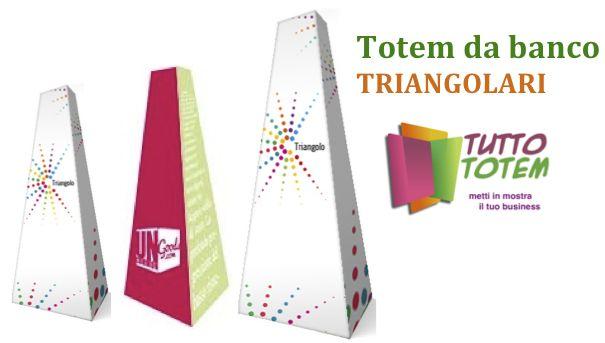 I triangolari. Una forma insolita per esporre la tua pubblicità direttamente sul tuo tavolo.