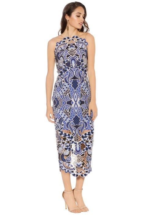 Thurley - Blues Festival Dress - Blue - Side