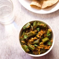 ... semi dry lightly spiced north indian curry made with okra