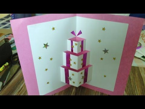 How To Make A Simple Pop-Up Birthday Card - YouTube