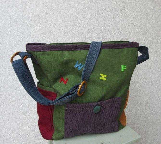 Schultertaschen - MärzErwachen bunte Tasche Unikat - ein Designerstück von Gasani bei DaWanda