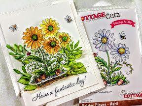 Cottage Cutz NEU Stanzschablone + Stempel: Flower - Hobby-Crafts24.eu