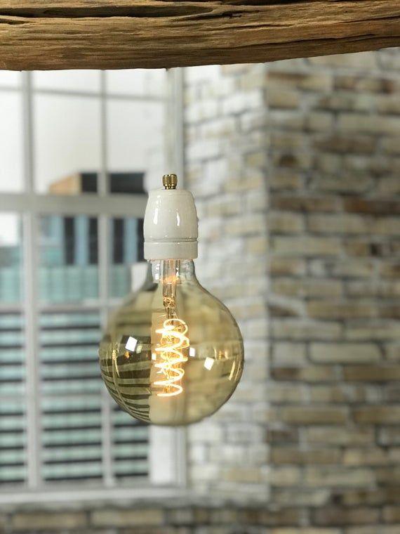 Deckenleuchte Des Verwitterten Alten Eichenzweigs Deckenlampe Led Leuchten Led Lampe