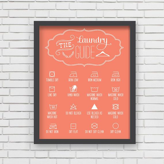 Home Decor Orange Laundry Room Art Print  by LucyDarlingPrints, $24.99