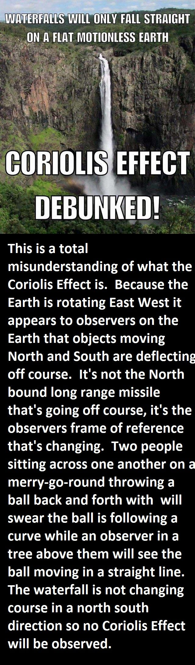Flat Earth misunderstanding of what the Coriolis effect is