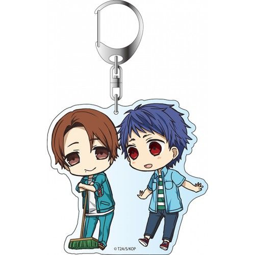 King of Prism by PrettyRhythm Acrylic Key Holder Chibidanzu Shin & Yamada