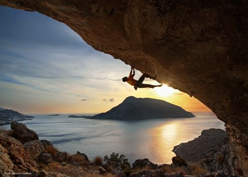 would love to rock climb on Kalymnos, Greece.