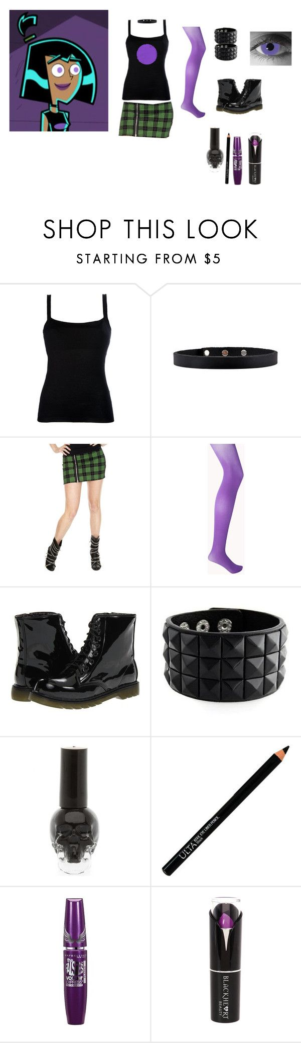 """Cosplay series: Sam Manson (Danny Phantom)"" by miss-morbid-13 ❤ liked on Polyvore featuring Valentino, Tripp, Forever 21, Dirty Laundry, Vision, ULTA and Maybelline"