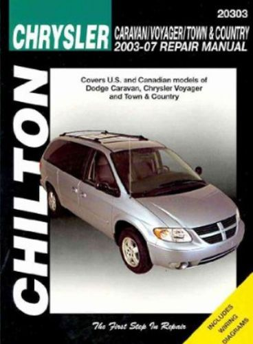 Chrysler CaravanVoyager and Town & Country Chilton Repair Manual 2003-2007: The Chilton Total Car Care… #CarParts #AutoParts #TruckParts