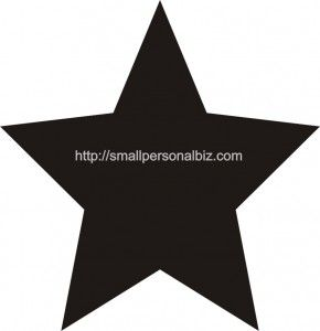 5 Point Printable Star Template Stencil