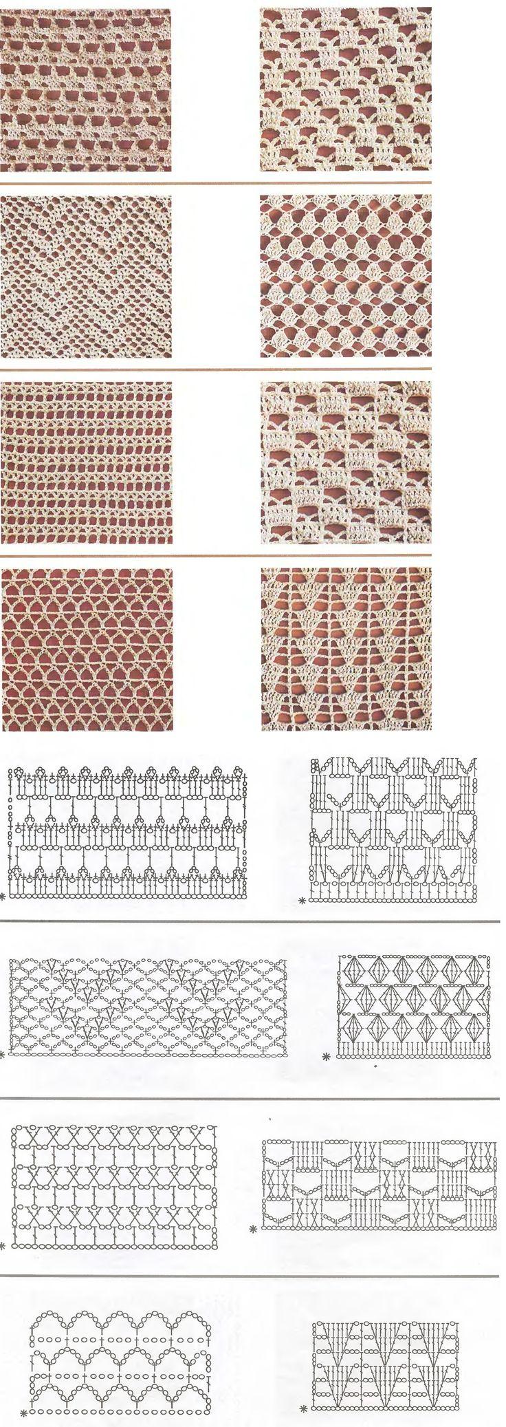 versch. Häkelmuster mit Anleitung- Stitches