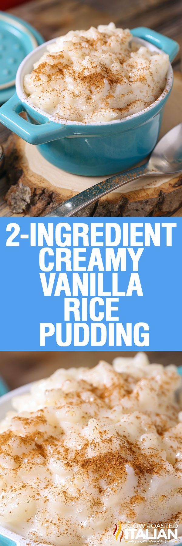 Creamy Vanilla Rice Pudding is the epitome of comfort food. This simple dessert made with just 2 ingredients is rich, silky and utterly delicious! This recipe is so simple it just about cooks itself!