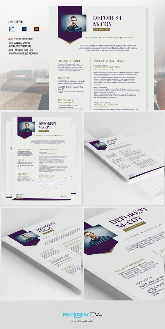 Resume Template Priam by Resume Templates on @creativemarket