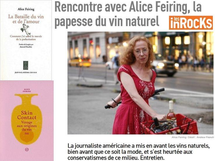 """""""La bataille pour le vin et l'amour"""" Rencontre avec Alice Feiring, la papesse du vin naturel   @Mj0glutenVG #0GlutenVegeBrest @lesinrocks #AliceFeiring @marisesargis #sansgluten #VEGAN #vinnaturel"""