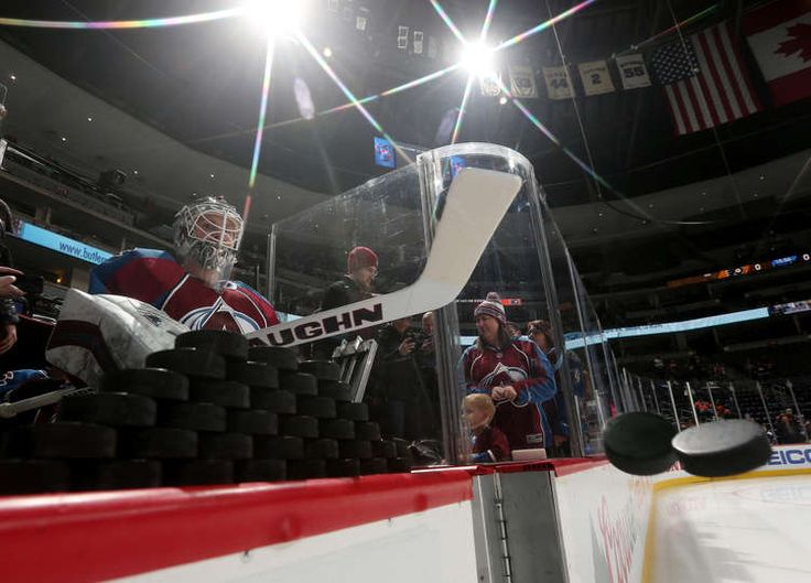 DENVER, CO - DECEMBER 14: Goaltender Calvin Pickard #31 of the Colorado Avalanche takes to the ice during warm ups prior to the game against the Philadelphia Flyers at the Pepsi Center on December 14, 2016 in Denver, Colorado. (Photo by Michael Martin/NHLI via Getty Images)