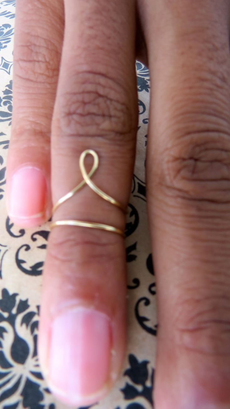 Designer Gold Above the Knuckle Ring, Mid-finger Ring, Vintage Mid-finger Ring, Boho Chic Rings, Hipster Knuckle Rings. $15.00, via Etsy.