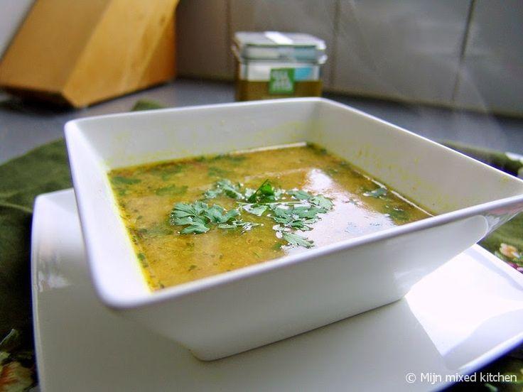 Mijn mixed kitchen: Kip kerriesoep (foodblogswap)