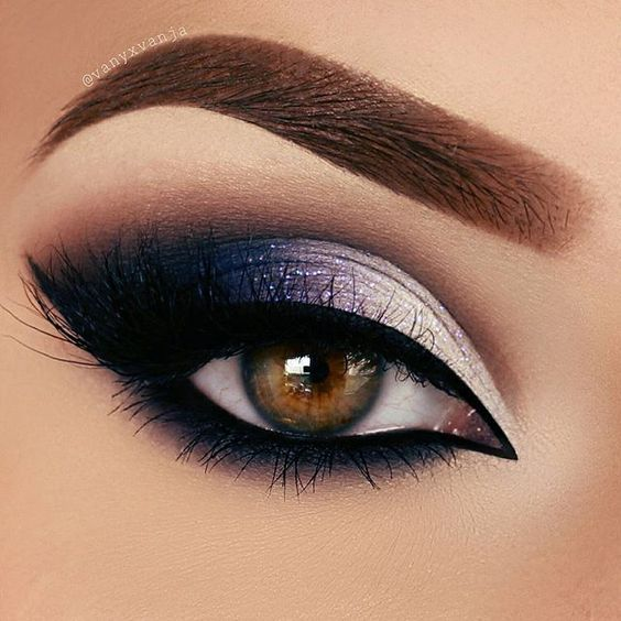 The perfect shade of purple eyeshadow meets stunning black eyeliner - creating the perfect look