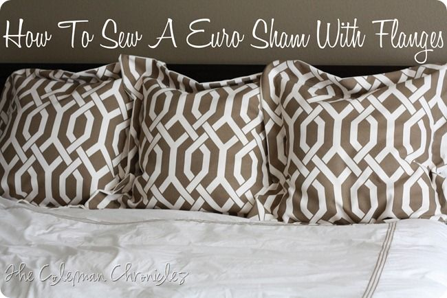 how to sew Euro pillow cover  |  Because Tommy Hilfiger no longer sells the Wellesley pattern, I'm going to try to make Euro shams out of a curtain. Wish me luck. I can just about load my sewing machine with thread.