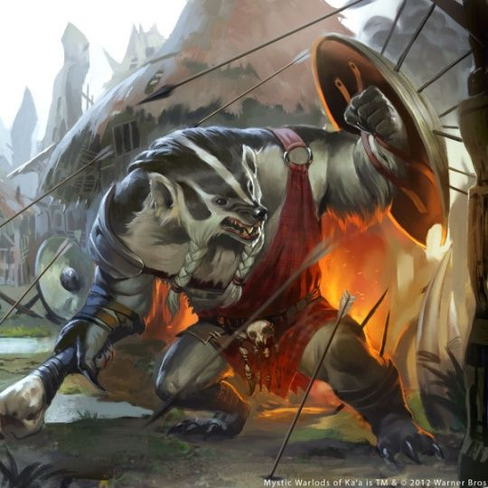 Awesome Fantasy Illustrations by Caravan Studio; Looks like it could be a Redwall Character. An new Badger Lord of Salamandastron, perhaps...