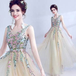 Buy Angel Bridal Sleeveless Embroidery Evening Gown at YesStyle.com! Quality products at remarkable prices. FREE Worldwide Shipping available!