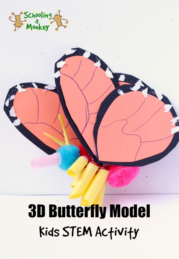 Love Monarch butterflies? You won't want to miss this fun STEM unit study learning about Monarch butterflies and creating a 3D Monarch model.