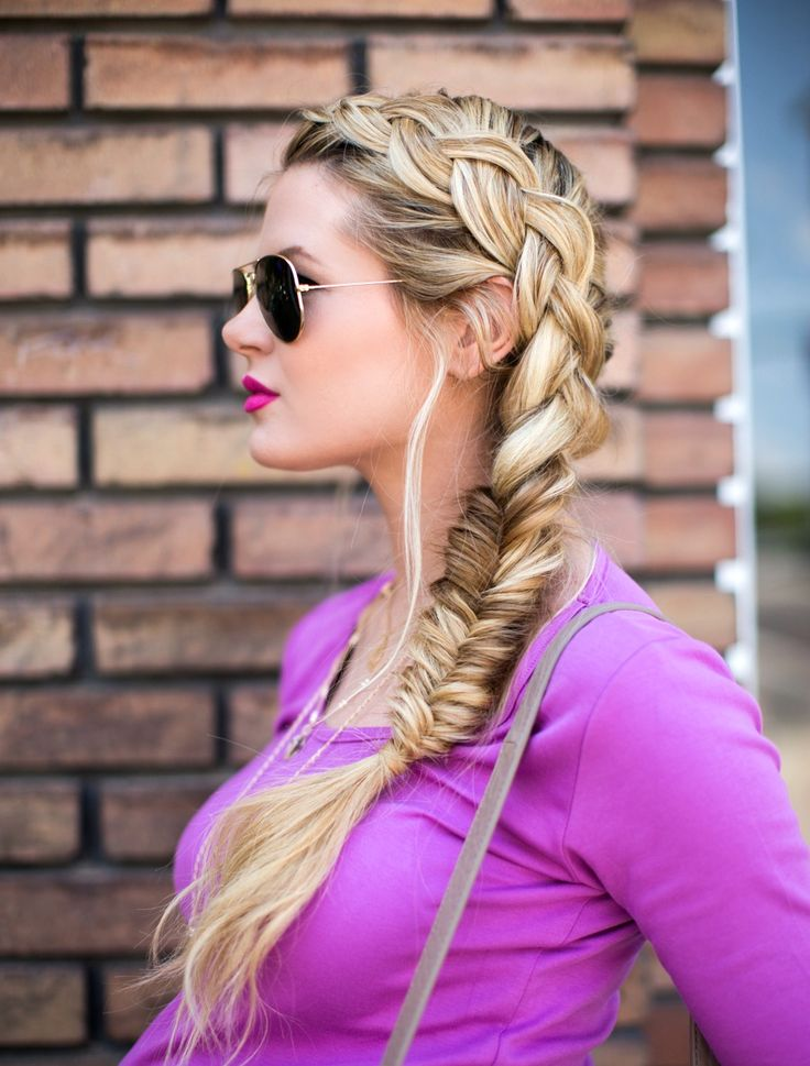 Dutch turned fishtail braid tutorial