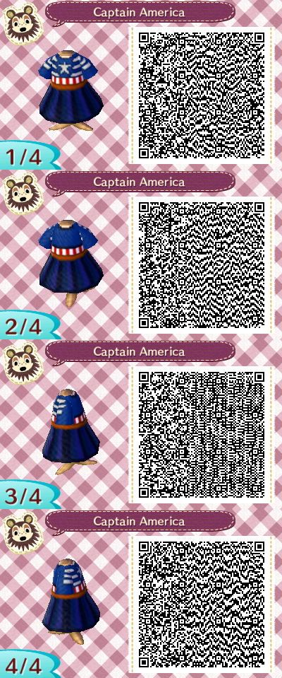 Capain America dress qr code! I made this in May and meant to publish it, but I was awfully busy.