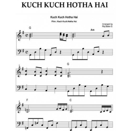 Guitar guitar chords bollywood songs : 1000+ images about Bollywood Sheet Music Books for Piano on Pinterest