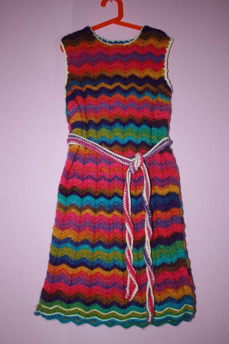 zig zag crochet dress