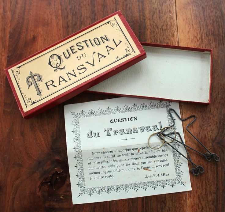 Antique French victorian puzzle/brain teaser game by LaChineuseFrancaise on Etsy