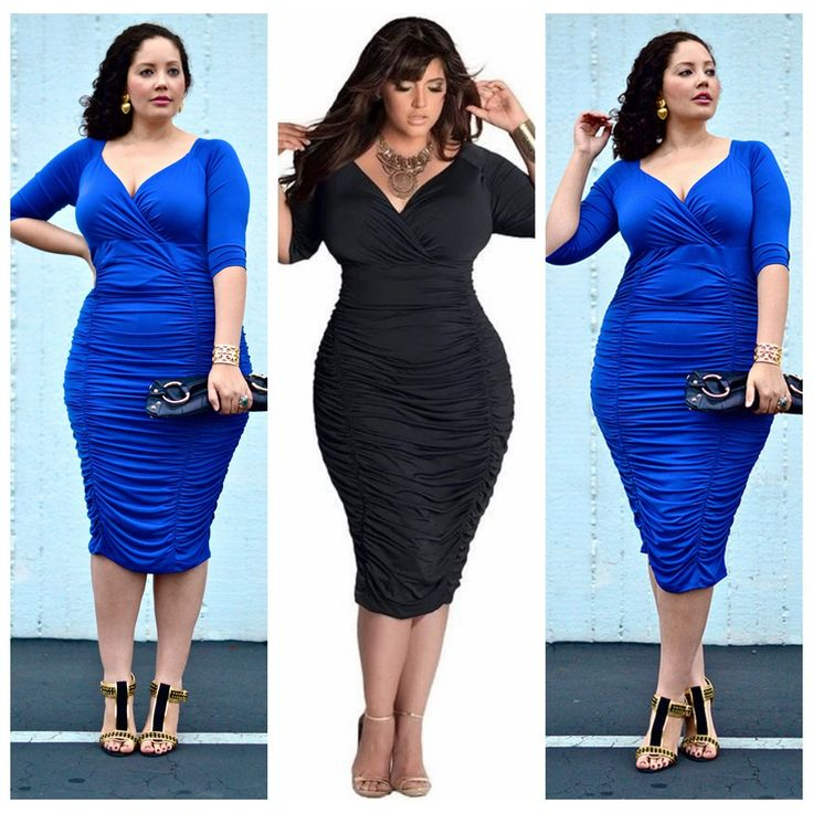 $9.59--3X--Plus size bodycon dresses Deep V Neck Half Sleeve Sexy Clubwear