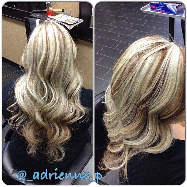Blonde highlights w/ a light brown base!