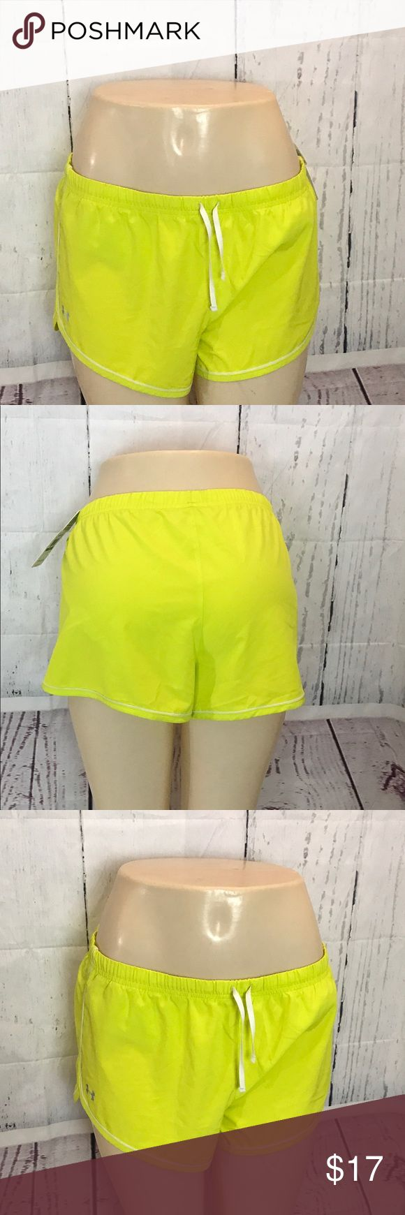 Under Armour Neon Running Shorts Size large NWT running shorts Under Armour Shorts