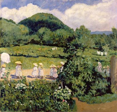 Picnic in May, Summer Day, 1906 ~ Karoly Ferenczy ~ (Austrian: 1862-1917)