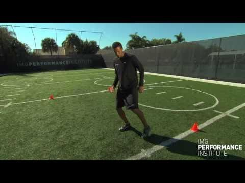 (5 of 6)-Lateral Direction Change Performance Tips and Performance Drills - Footwork Drills, Agility Drills and Acceleration Drills by the IMG Academy Athletic & Personal Development program.     Learn from IMG Academy Athletic & Personal Development Coach, Trevor Anderson, how to increase your footwork, agility and acceleration on the playing field. This is a series of six videos...