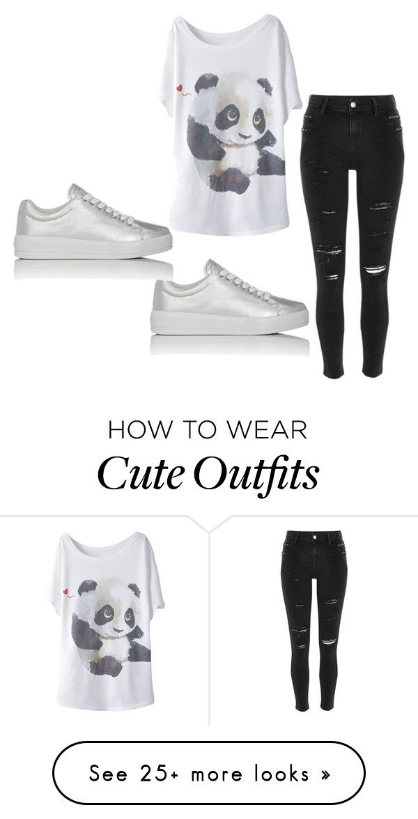 """panda outfit"" by jameladams on Polyvore featuring River Island and Prada Sport"