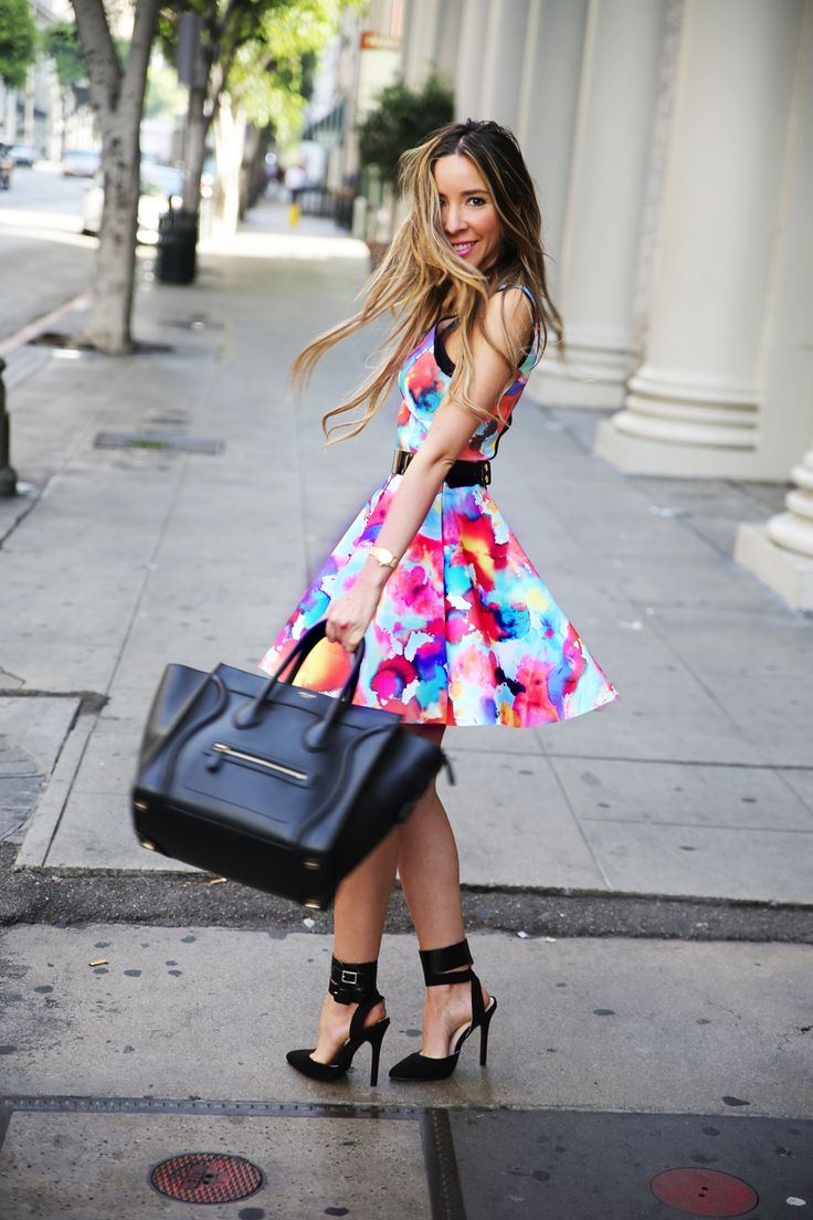 Dress and shoes are an interesting combination