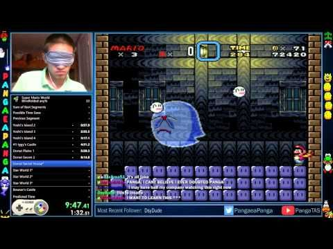 Amazing Human Beats 'Super Mario World' In Just 23 Minutes... Blindfolded