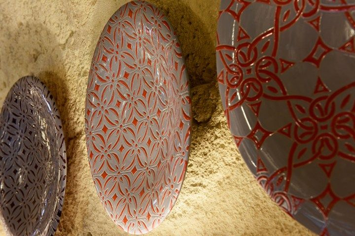Beautiful wall plates based on tile designs from Enza Fasano