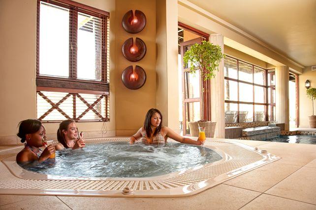 Kloofzicht Spa's Jacuzzi.  Kloofzicht Spa is part of the Guvon Hotels & Spas portfolio.