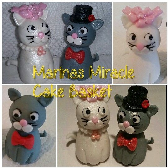 Kitty sugar cake toppers by Marina Kirk-Osman