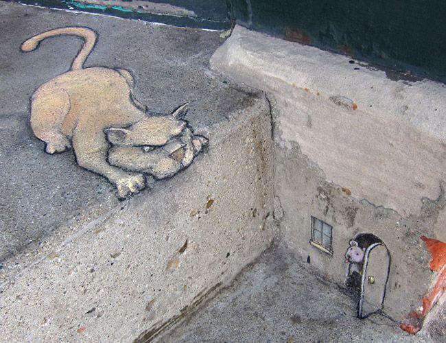 Funny Street Art by David Zinn | Kesato Blog