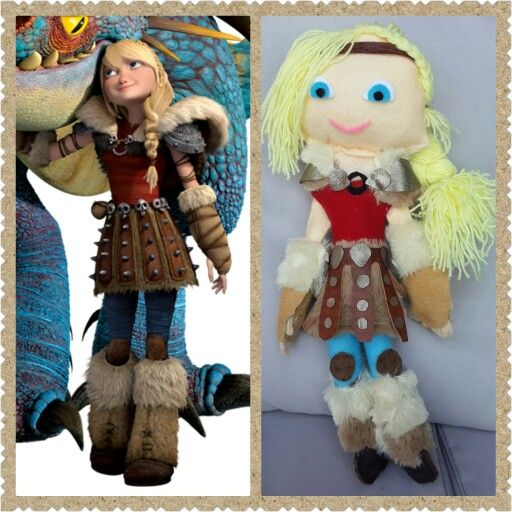 Homemade Astrid doll for my daughter.