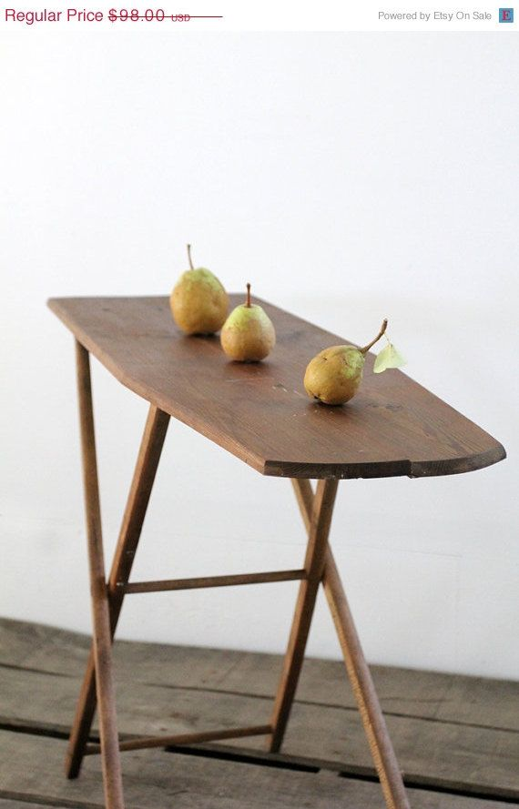 Small Ironing Board / Vintage Wood Ironing Board by 86home on Etsy, $83.30 - 235 Best Vintage Irons And Ironing Boards Images On Pinterest