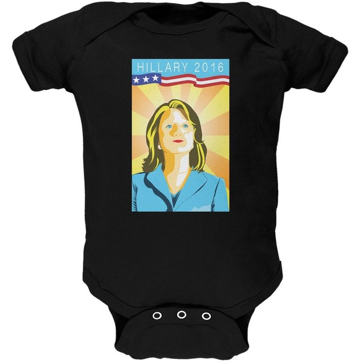 Election Hillary Clinton Poster Black Soft Baby One Piece