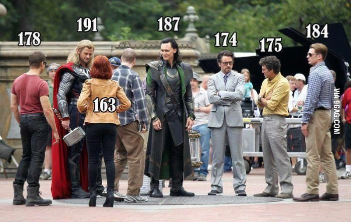 Avengers actors' height